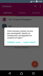 Sony Xperia X - Contact, Appels, SMS/MMS - Ajouter un contact - Étape 5