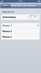 Apple iPhone 5 - Réseau - Sélection manuelle du réseau - Étape 8