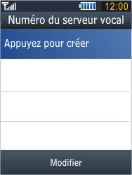 Samsung B3410 Star Qwerty - Messagerie vocale - configuration manuelle - Étape 9