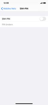 Apple iPhone X - iOS 13 - Startanleitung - So aktivieren Sie eine SIM-PIN - Schritt 5