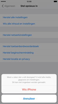 Apple iPhone 6s Plus - Resetten - Fabrieksinstellingen terugzetten - Stap 7