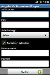Samsung S5830i Galaxy Ace i - E-Mail - Konto einrichten - Schritt 11