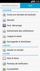 Bouygues Telecom Ultym 5 - Aller plus loin - Restaurer les paramètres d'usines - Étape 4