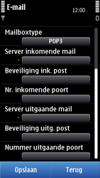 Nokia N8-00 - E-mail - e-mail instellen: POP3 - Stap 11