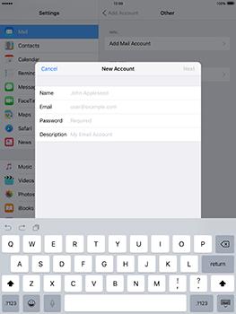 Apple iPad mini 4 iOS 10 - E-mail - Manual configuration - Step 8