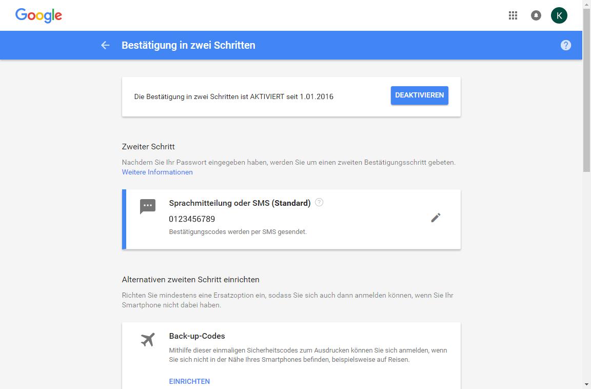 Samsung Galaxy S7 - Datenschutz und Sicherheit - Zwei-Faktor-Authentifizierung - 11 / 11