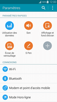 Samsung N910F Galaxy Note 4 - Wifi - configuration manuelle - Étape 3