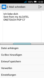 Alcatel Pop C7 - E-Mail - E-Mail versenden - 0 / 0