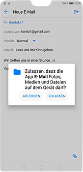 Huawei P20 Pro - E-Mail - E-Mail versenden - 11 / 17
