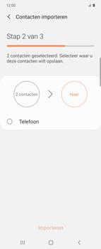 Samsung Galaxy Z Flip Single-SIM + eSIM (SM-F700F) - Contacten en data - Contacten kopiëren van SIM naar toestel - Stap 11