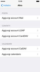 Apple iPhone 5 iOS 7 - E-mail - configurazione manuale - Fase 10