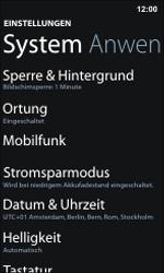 Nokia Lumia 800 / Lumia 900 - Netzwerk - Manuelle Netzwerkwahl - Schritt 4