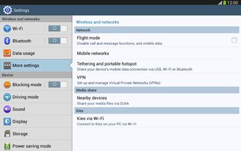 Samsung Galaxy Tab 3 10-1 LTE - Internet and data roaming - Disabling data roaming - Step 5