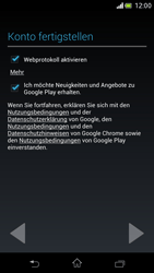 Sony Xperia V - Apps - Einrichten des App Stores - Schritt 19