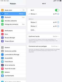 Apple iPad 9.7 (2017) - iPadOS 13 - WiFi - Configuration du WiFi - Étape 7