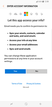 Samsung Galaxy S8 Plus - E-mail - 032c. Email wizard - Outlook - Step 8