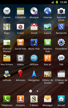 Samsung N7000 Galaxy Note - Internet - navigation sur Internet - Étape 2