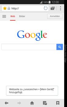 Samsung Galaxy Note Edge - Internet und Datenroaming - Verwenden des Internets - Schritt 8