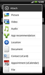 HTC A7272 Desire Z - E-mail - Sending emails - Step 8