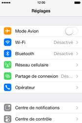 Apple iPhone 4S iOS 7 - Réseau - Sélection manuelle du réseau - Étape 5