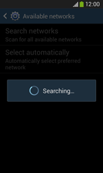 Samsung Galaxy Ace III - Network - Manual network selection - Step 7
