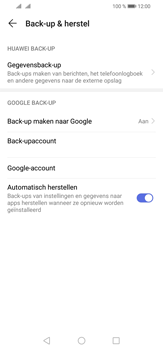Huawei P30 Lite - Data - maak een back-up met je account - Stap 8
