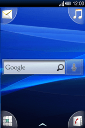 Sony Ericsson Xperia X8 - Apps - Konto anlegen und einrichten - Schritt 1
