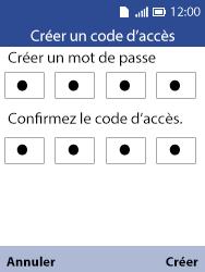 Alcatel 3088X - Sécuriser votre mobile - Activer le code de verrouillage - Étape 9