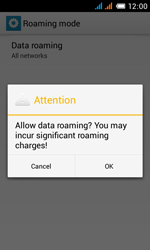 Alcatel One Touch Pop C3 - Internet and data roaming - Disabling data roaming - Step 10