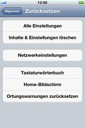 Apple iPhone 3GS - Fehlerbehebung - Handy zurücksetzen - 7 / 10