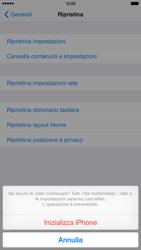 Apple iPhone 6 Plus - iOS 8 - Dispositivo - Ripristino delle impostazioni originali - Fase 8