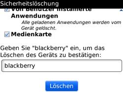 BlackBerry Curve - Fehlerbehebung - Handy zurücksetzen - 12 / 13