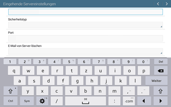 Samsung T535 Galaxy Tab 4 10.1 - E-Mail - Manuelle Konfiguration - Schritt 9