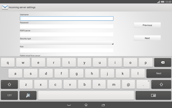 Sony Xperia Tablet Z2 LTE - E-mail - manual configuration - Step 8