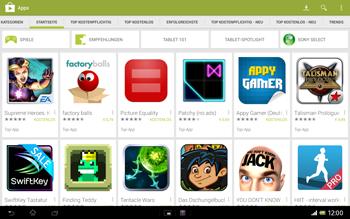 Sony Xperia Tablet Z LTE - Apps - Einrichten des App Stores - Schritt 25