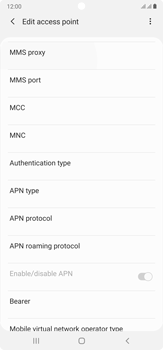 Samsung Galaxy Note 20 Ultra 5G - MMS - Manual configuration - Step 12