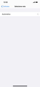 Apple iPhone XR - iOS 13 - Rete - Selezione manuale della rete - Fase 6