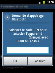 Samsung S5360 Galaxy Y - Bluetooth - connexion Bluetooth - Étape 10