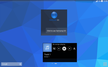 Samsung T535 Galaxy Tab 4 10.1 - Getting started - Installing widgets and applications on your start screen - Step 9