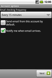 Samsung I7500 Galaxy - E-mail - Manual configuration - Step 12