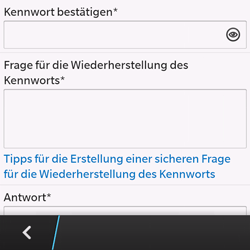 BlackBerry Q10 - Apps - Konto anlegen und einrichten - 1 / 1