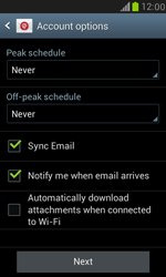 Samsung Galaxy S III Mini - E-mail - 032b. Email wizard - Yahoo - Step 7