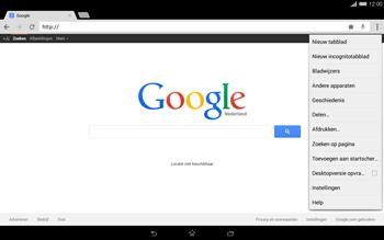 Sony Xperia Tablet Z2 4G (SGP521) - Internet - Hoe te internetten - Stap 12