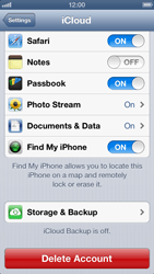 Apple iPhone 5 - Applications - Configuring the Apple iCloud Service - Step 9