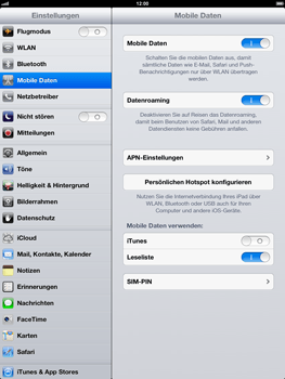 Apple iPad 4 - Ausland - Auslandskosten vermeiden - Schritt 6