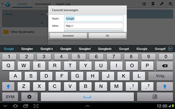 Samsung N8000 Galaxy Note 10-1 - Internet - Internet gebruiken - Stap 7