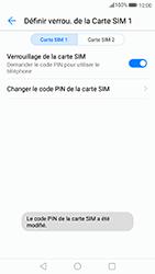 Huawei P10 Lite - Sécuriser votre mobile - Personnaliser le code PIN de votre carte SIM - Étape 13