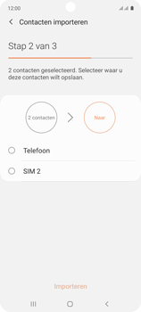 Samsung galaxy-a71-sm-a715f - Contacten en data - Contacten kopiëren van SIM naar toestel - Stap 11