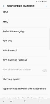 Samsung Galaxy S8 Plus - Android Oreo - Internet und Datenroaming - Manuelle Konfiguration - Schritt 12