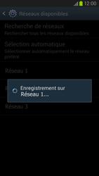Samsung Galaxy S III LTE - Réseau - Sélection manuelle du réseau - Étape 9